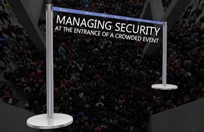 Managing Security at the Entrance of a Crowded Event