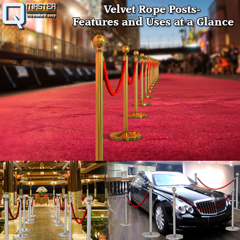 Velvet Rope Posts- Features and Uses at a Glance
