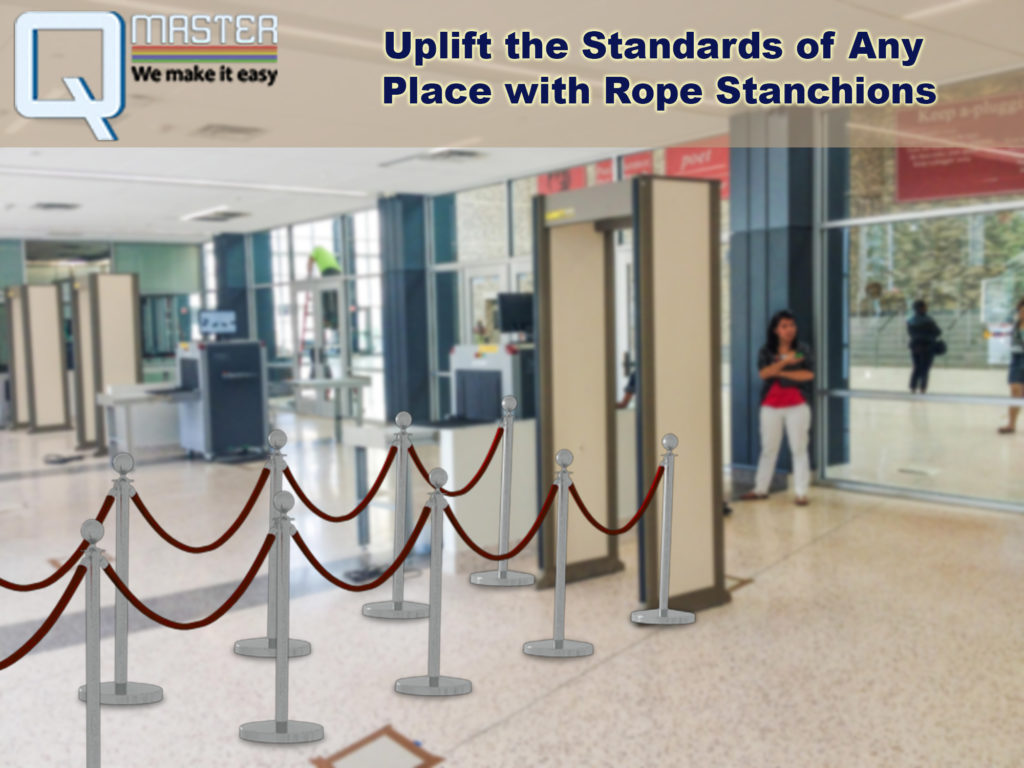 Velvet Rope Posts with Rope Stanchions