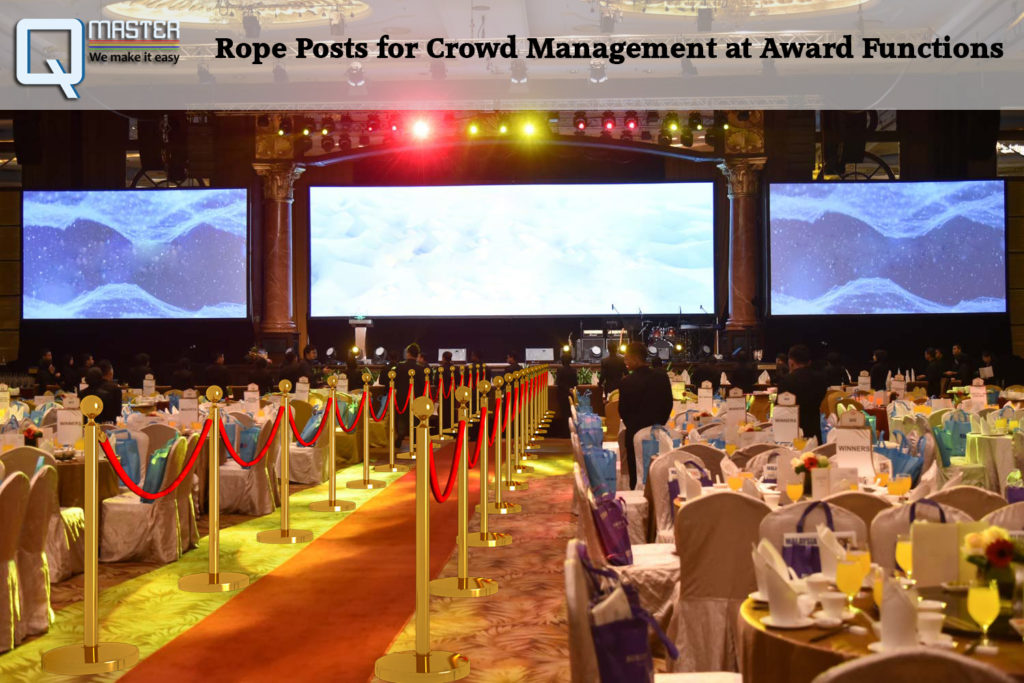 Rope Posts for Crowd Management at Award Functions